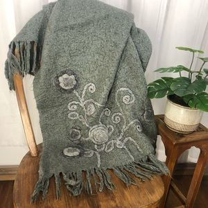 Other - Hand Felted Wool Throw Blanket